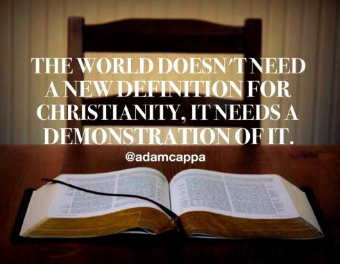 christianity demonstrate it
